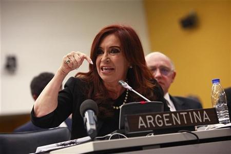 Cristina Kirchner, veuve de l'ancien président Nestor Kirchner, est une fervente partisane des Malouines argentines.